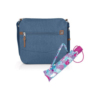 BOLSO EXPANDIBLE ASTRAL AZUL 533213 + OBSEQUIO GRATIS SOMBRILLA PLEGABLE COLOR 222064